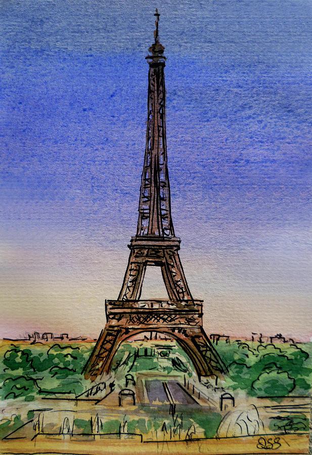 Paris Painting - Eiffel Tower Paris France by Irina Sztukowski