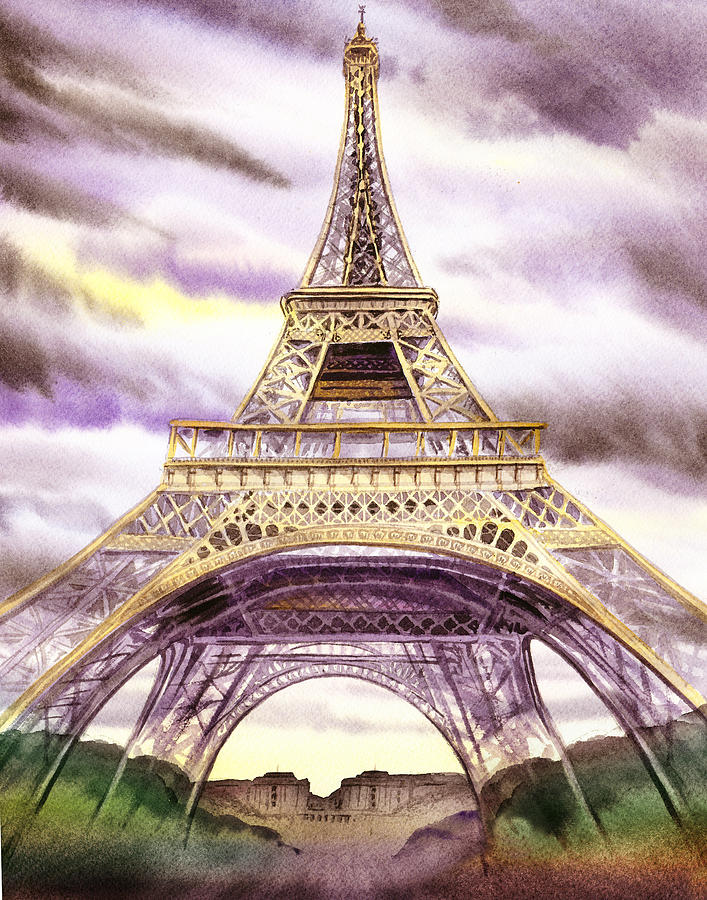 Eiffel Tower Summer In Paris Painting