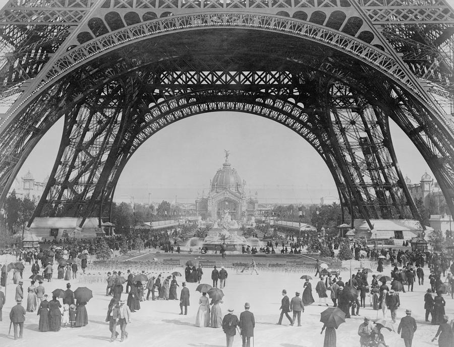 Eiffel tower world 39 s fair 1889 photograph by war is hell for Expo photo paris