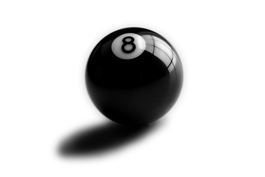 Pool Ball Photograph - Eight Ball by Mark Wagoner