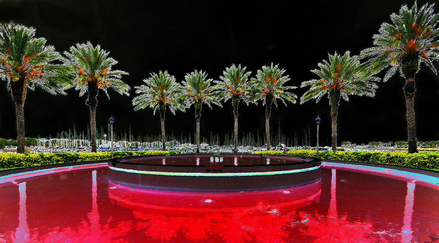 Art Painting - Eight Palms Drinking Wine by David Lee Thompson