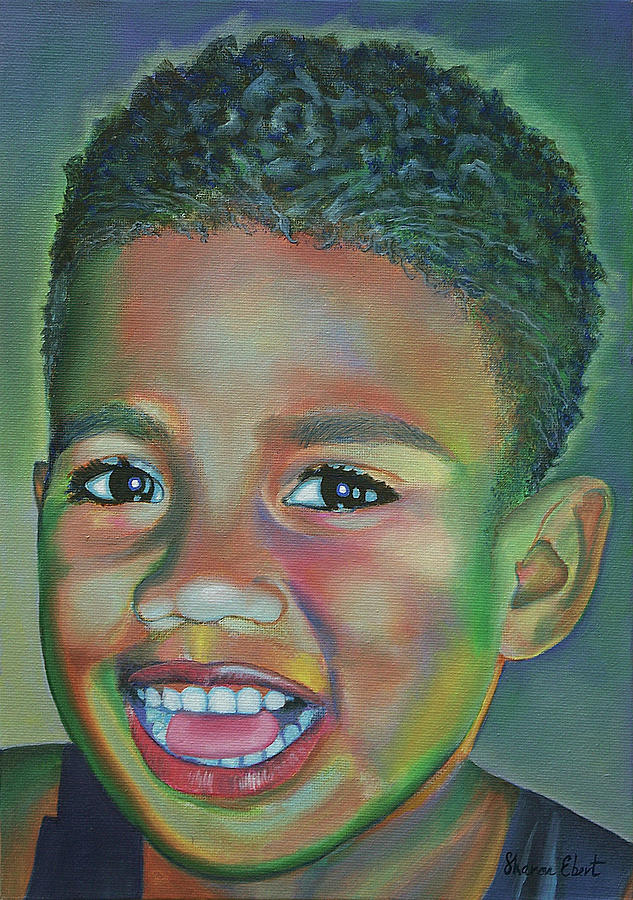 Portrait Painting - Eka  by Sharon Ebert