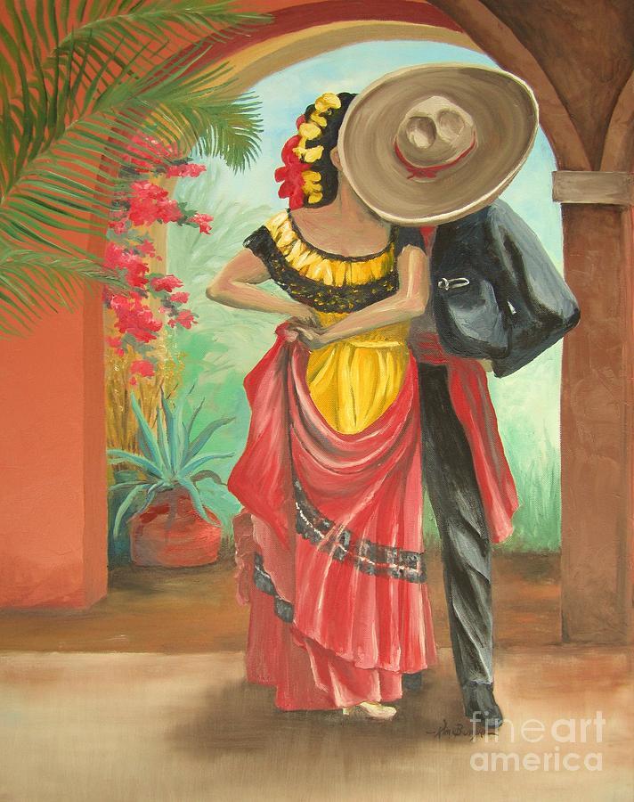 Dance Painting - El Beso by Kim Bumpus