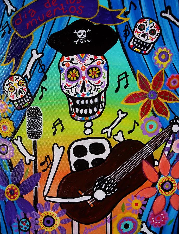 Musician Painting - El Musikero by Pristine Cartera Turkus