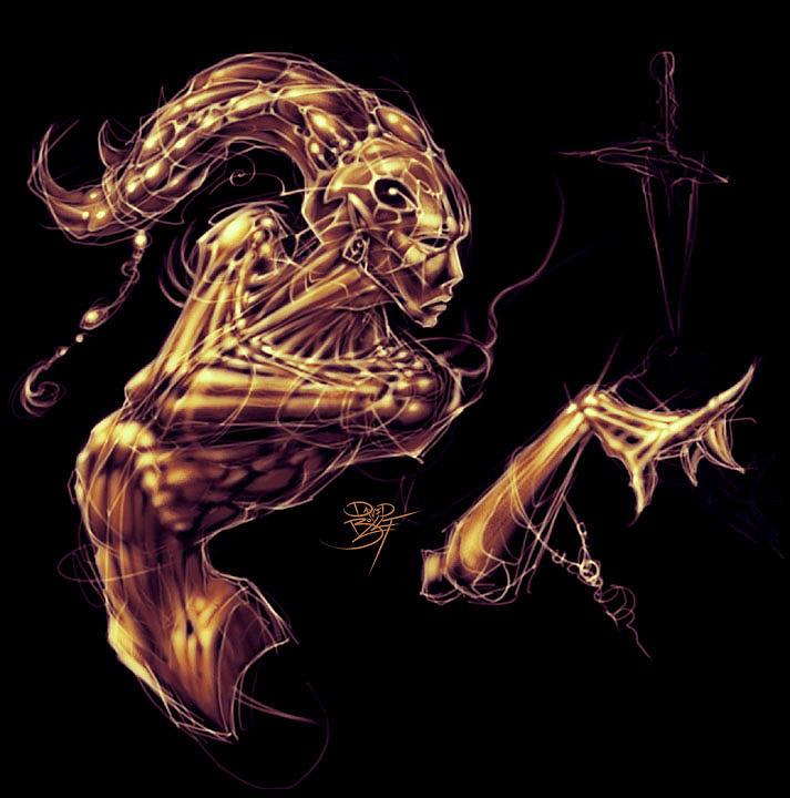 Fantasy Painting - Electric Genie by David Bollt