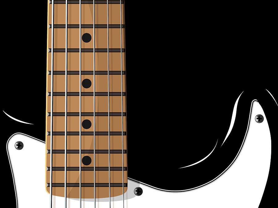 electric Guitar Digital Art - Electric Guitar by Michael Tompsett