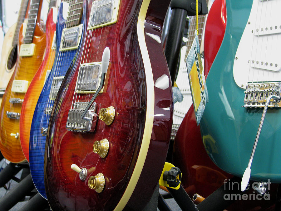 Electric Guitars For Sale Photograph