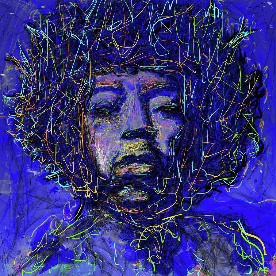 Electrifying Hendrix Mixed Media