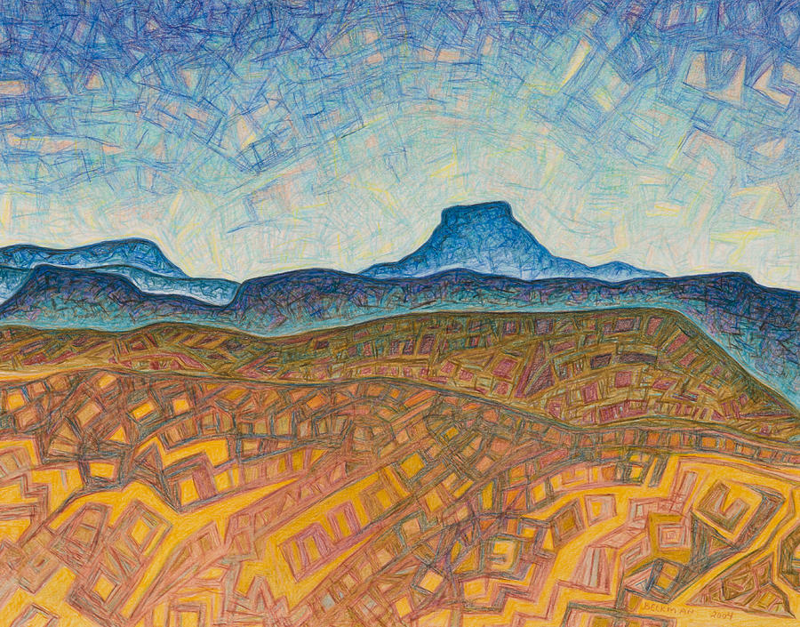 Pastel Drawing - Electromagnetic Observation by Dale Beckman