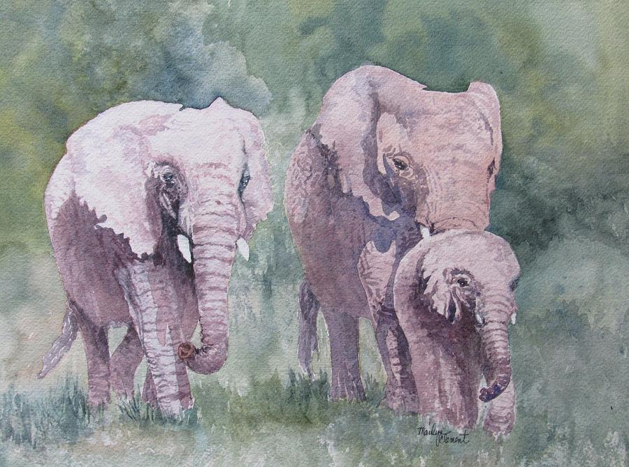 Elephant family painting - photo#5