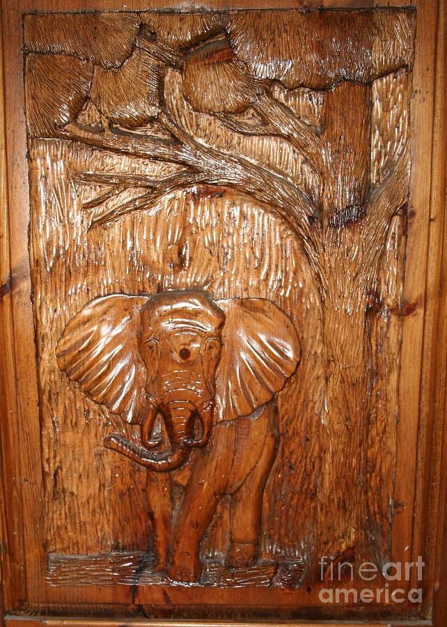 Elephant relief sold by john nickerson