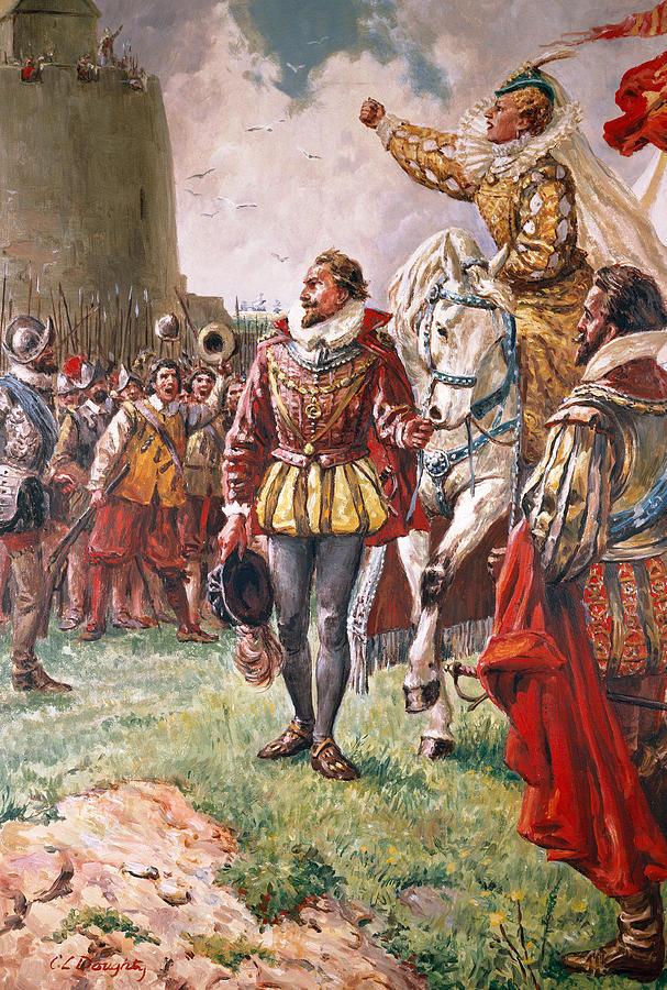 Queen Elizabeth Painting - Elizabeth I The Warrior Queen by CL Doughty