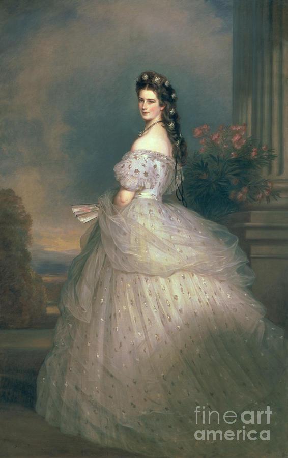Elizabeth Painting - Elizabeth Of Bavaria by Franz Xavier Winterhalter