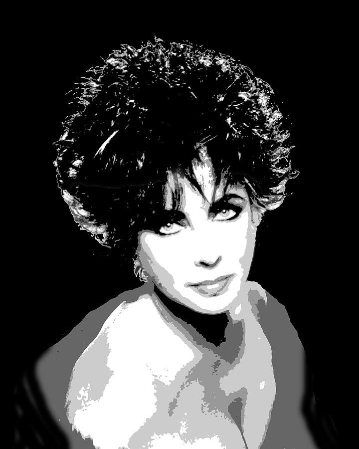 Celebrities Painting - Elizabeth Taylor by Richard La Valle