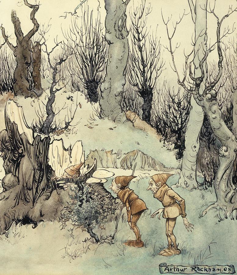Arthur Painting - Elves In A Wood by Arthur Rackham