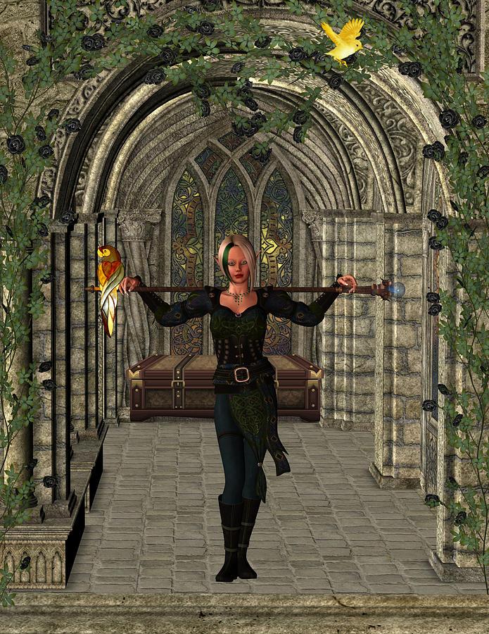 Elvin Hallway Digital Art