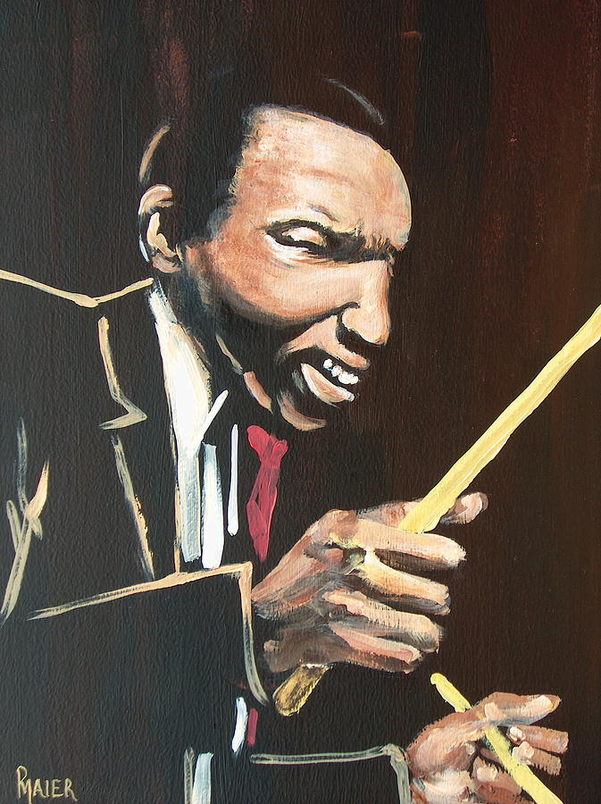 Jazz Painting - Elvin Vi by Pete Maier