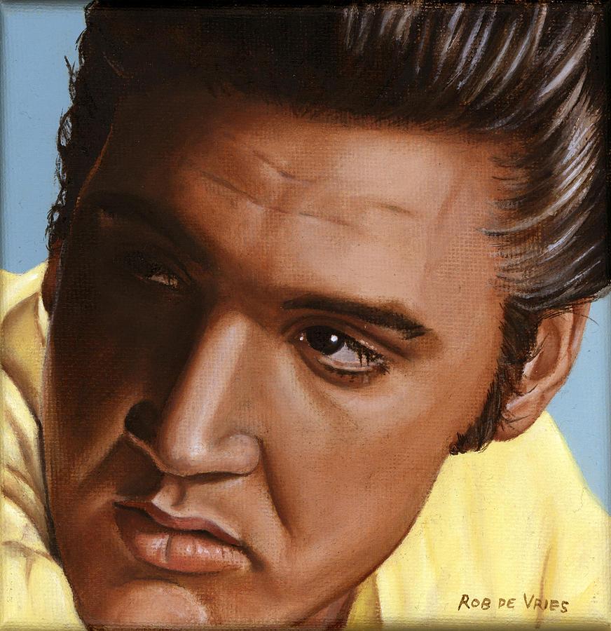 Elvis Painting - Elvis 24 1956 by Rob De Vries