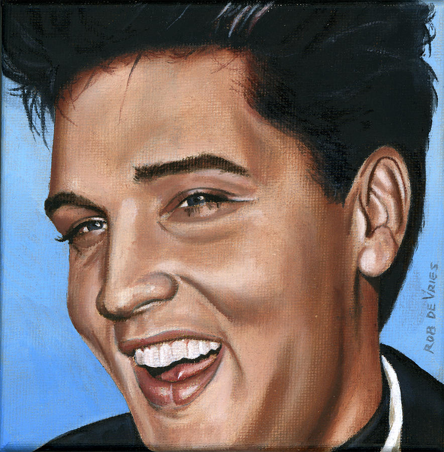 Elvis Painting - Elvis 24 1960 by Rob De Vries