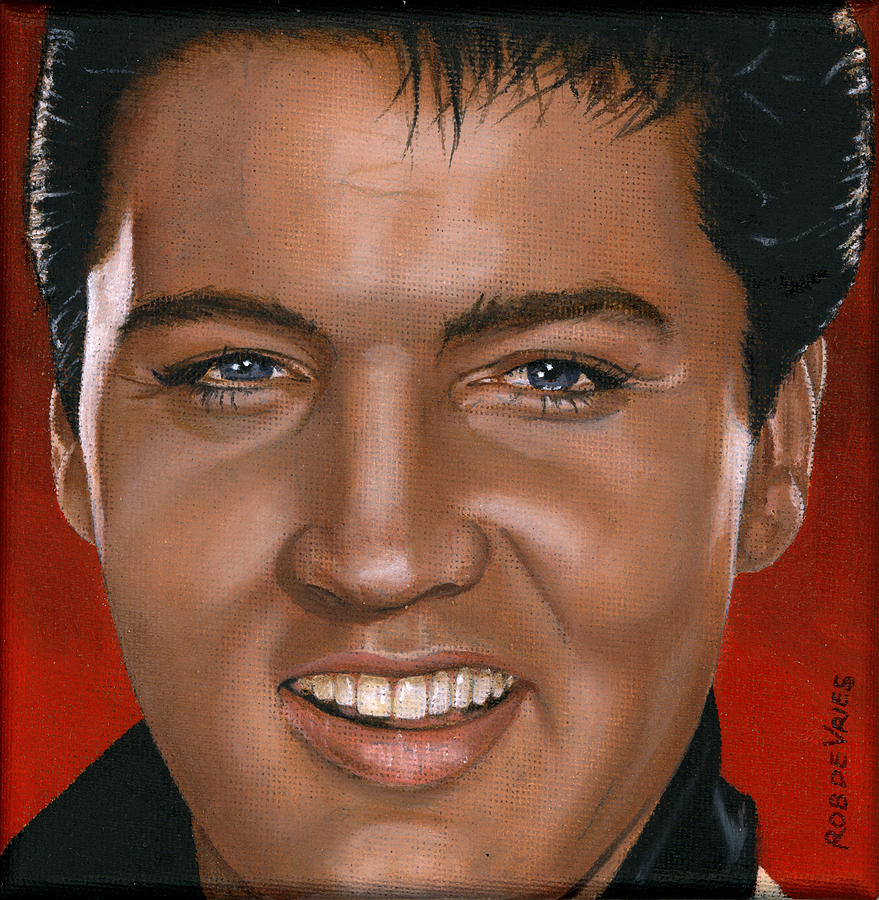 Elvis Painting - Elvis 24 1964 by Rob De Vries