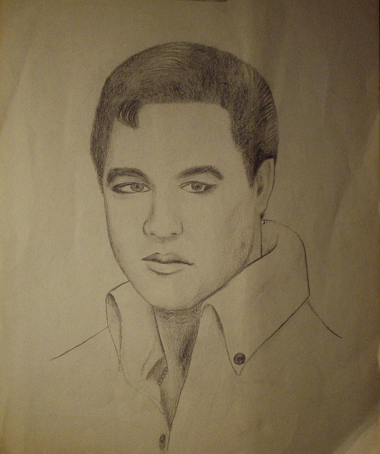 Elvis Drawing - Elvis Aron by Gershwin   Smud