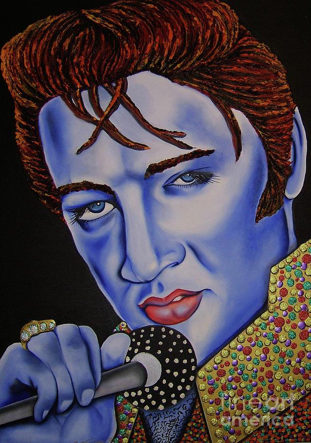 Portrait Painting - Elvis by Nannette Harris