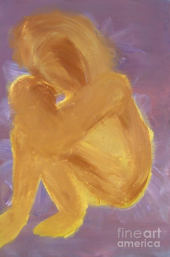 Mother Painting - Embrace by Karen L Christophersen