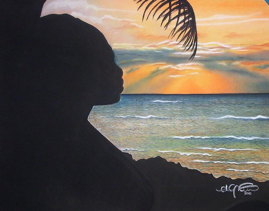 Angela Mustin Pastel - Embracing The Moment 2 by Angela Mustin