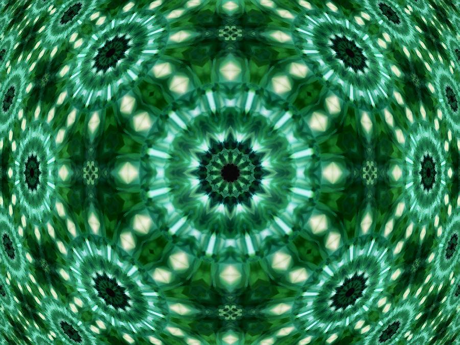 Abstract Digital Art - Emerald  by Thomas  MacPherson Jr