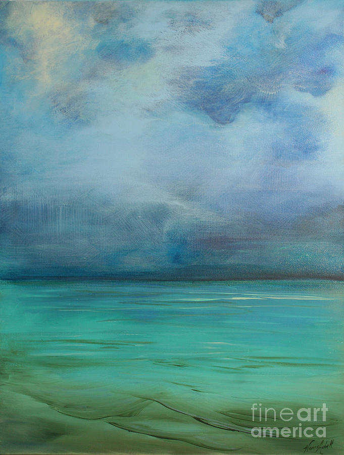 Water Painting - Emerald Waters by Michele Hollister - for Nancy Asbell