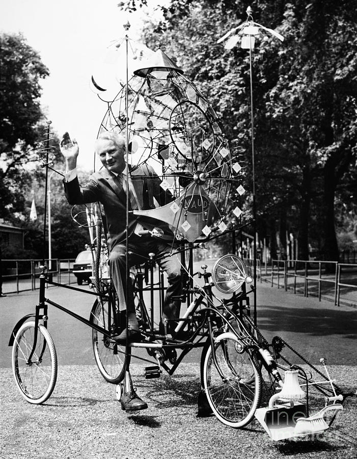 1970 Photograph - Emett: Lunacycle, 1970 by Granger
