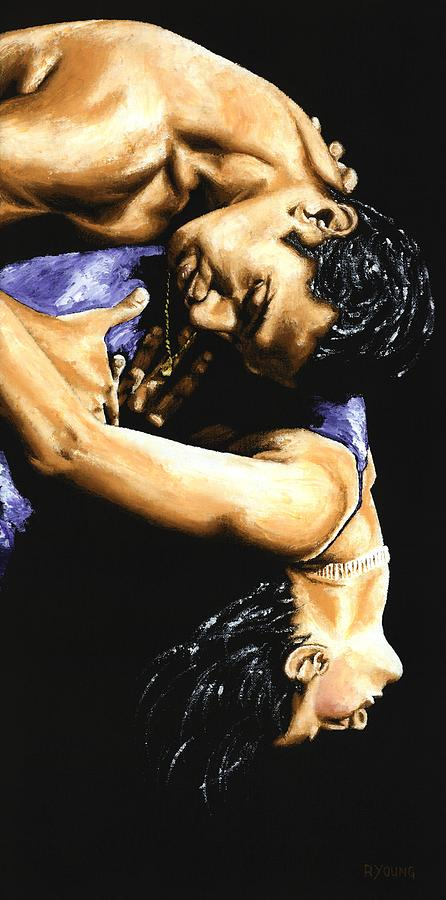 Male Painting - Emotional Tango by Richard Young