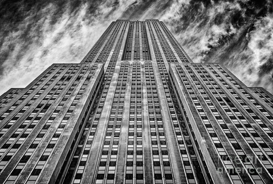 Crazy Nyc Photograph - Empire State Building Black And White by John Farnan