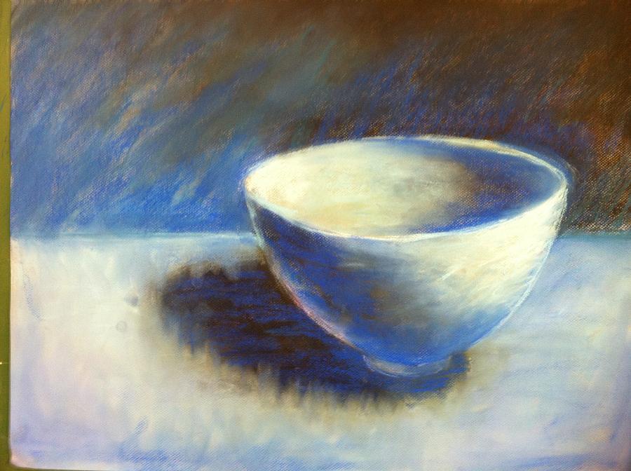 Pastel Drawing - Empty Bowl by Jeff Levitch