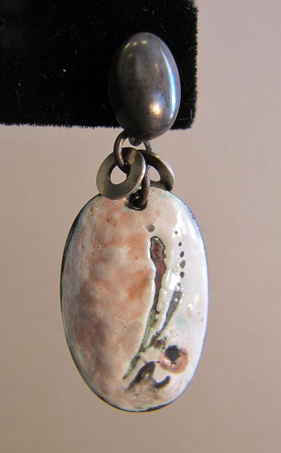 Enamel Sgraffito  Earrings Jewelry