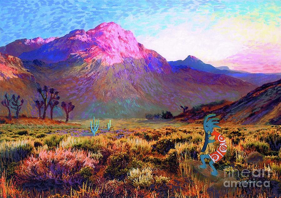 Enchanted Kokopelli Dawn Painting