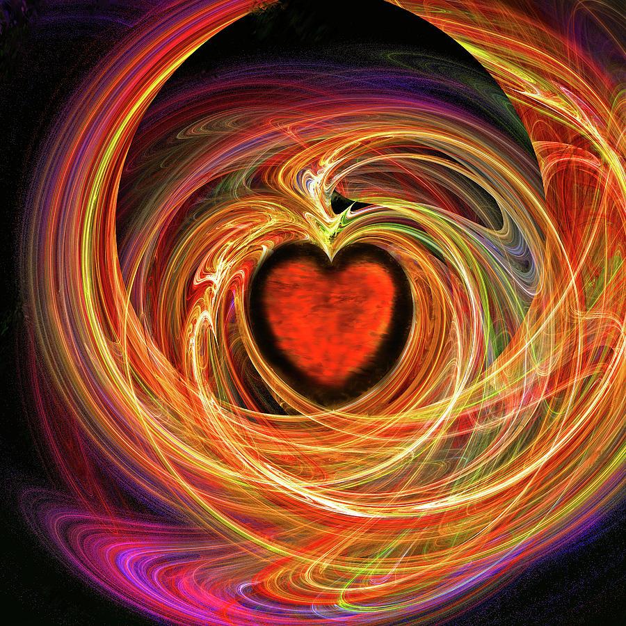 Digital Digital Art - Encompassing  Love by Michael Durst