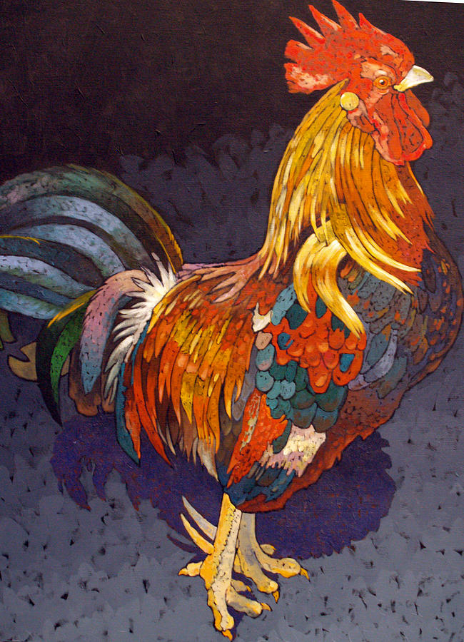 Regal Rooster Painting - Encore by Bob Coonts