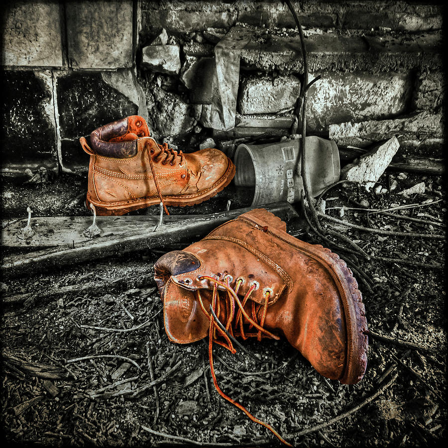 Boot Photograph - End Of The Road by Evelina Kremsdorf
