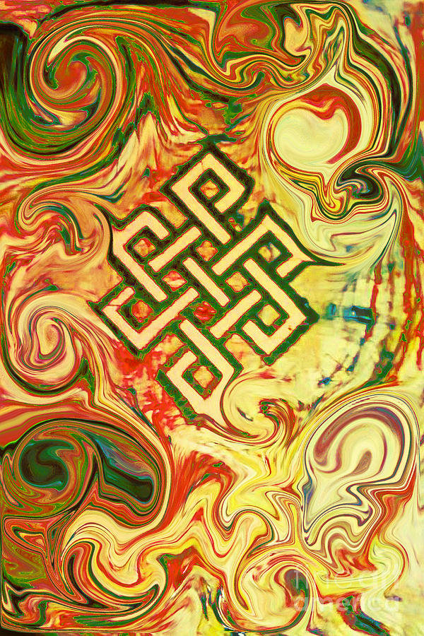 Endless Knot Painting - Endless Knot Two by Kevin J Cooper Artwork