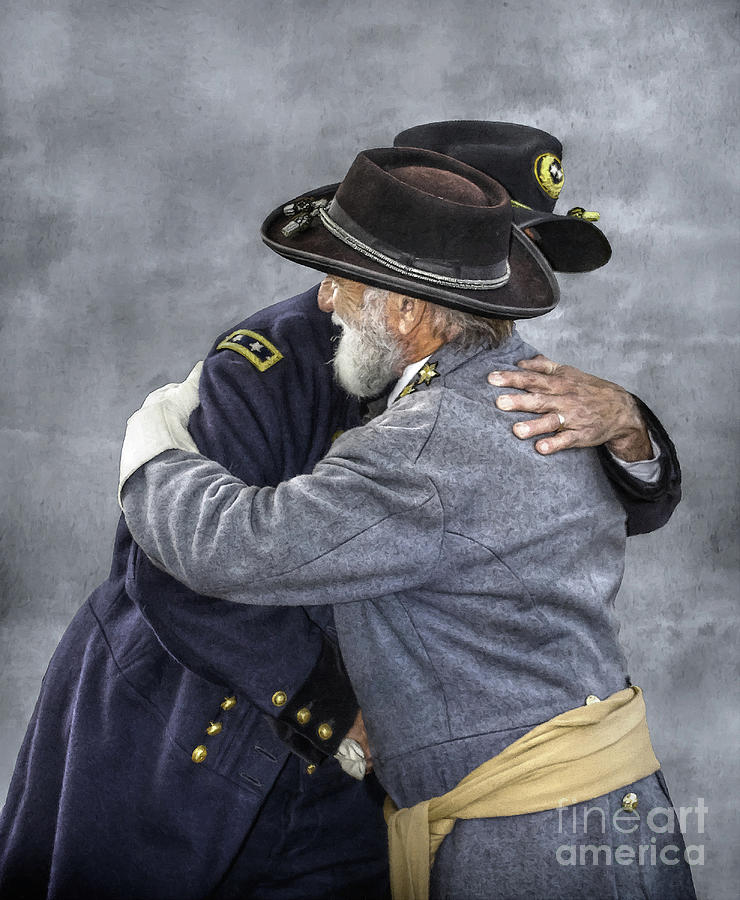 Sons Of The Confederacy Digital Art - Enemies No Longer Civil War Grant And Lee by Randy Steele