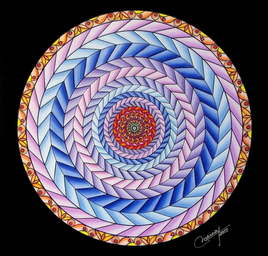 Mandala Painting - Energy In Movement by Marcia Lupo