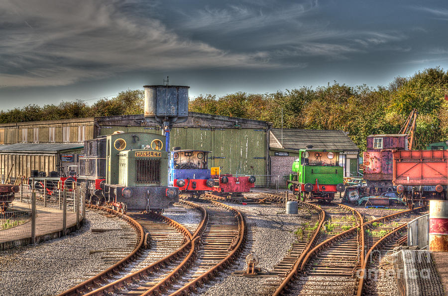 Engines Photograph - Engine Sheds Quainton Road Buckinghamshire Railway by Chris Thaxter
