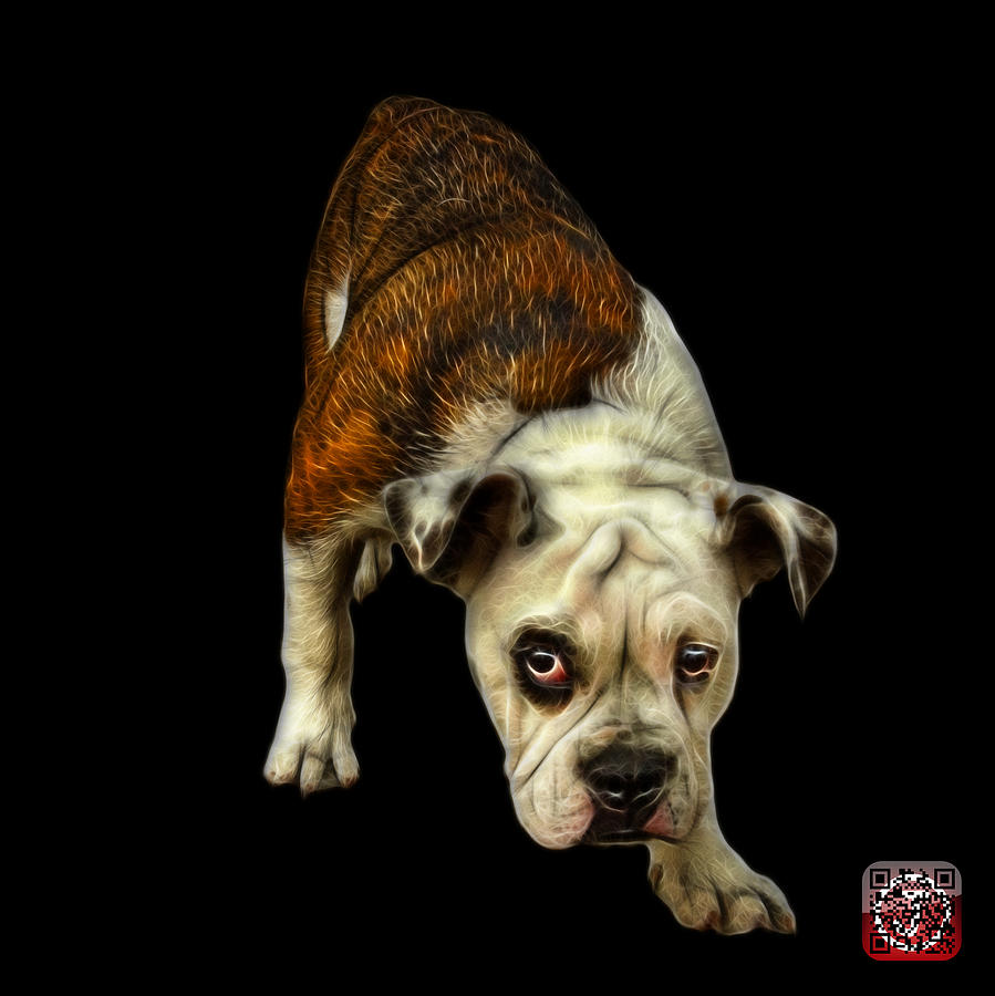 English Bulldog Dog Art - 1368 - Bb Painting by James Ahn
