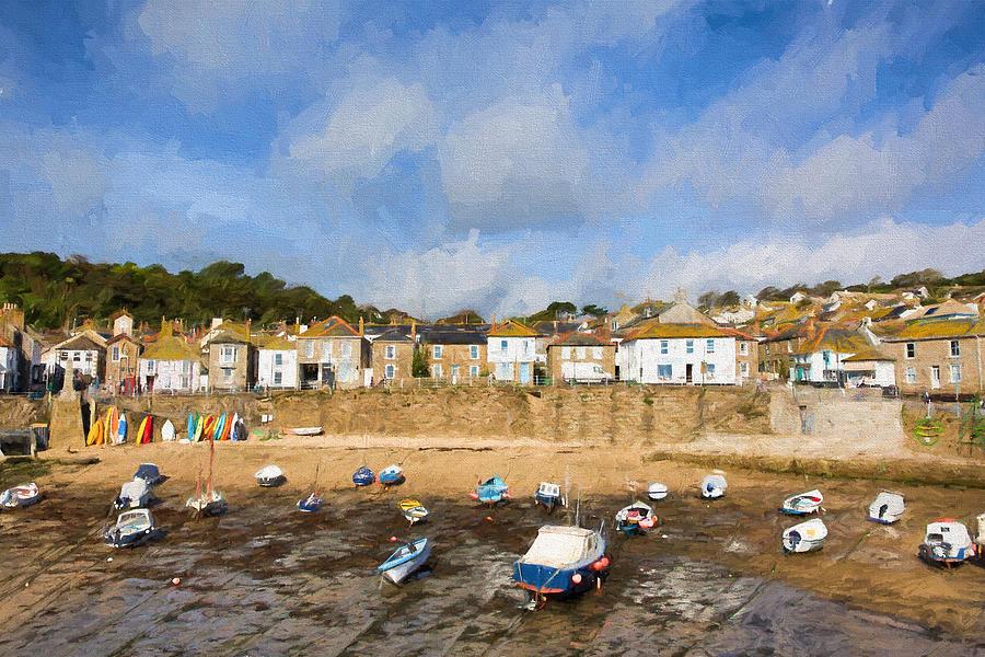 ... Cornwall England Cornish Fishing Village Photograph by Michael Charles