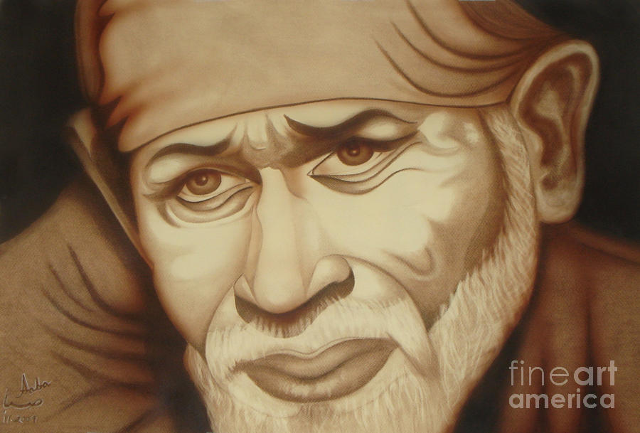 Sai Baba Painting - Enlightenment by Saba Aghajan