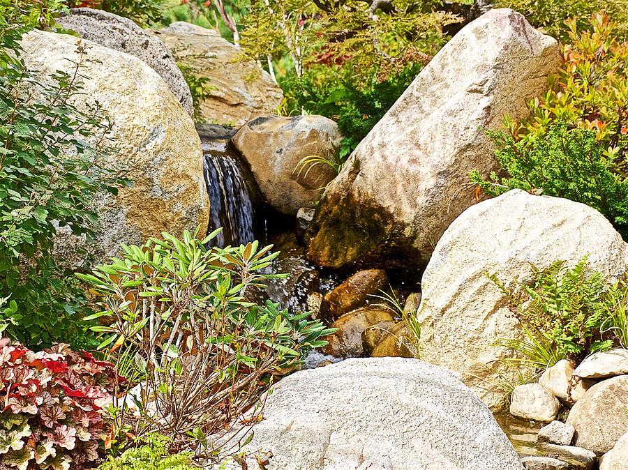 Entrance garden waterfall in japanese garden in meijer for Japanese garden entrance