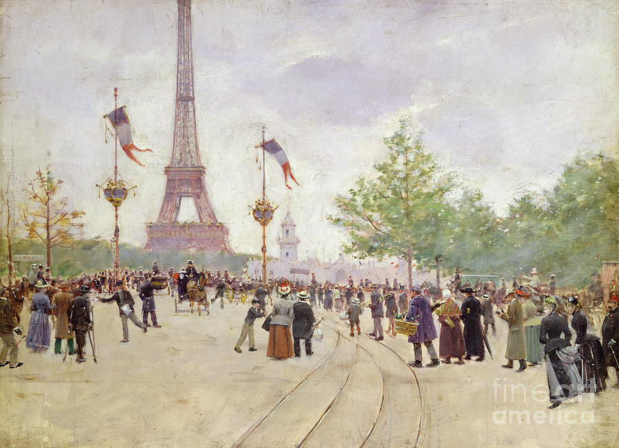 Entrance Painting - Entrance To The Exposition Universelle by Jean Beraud