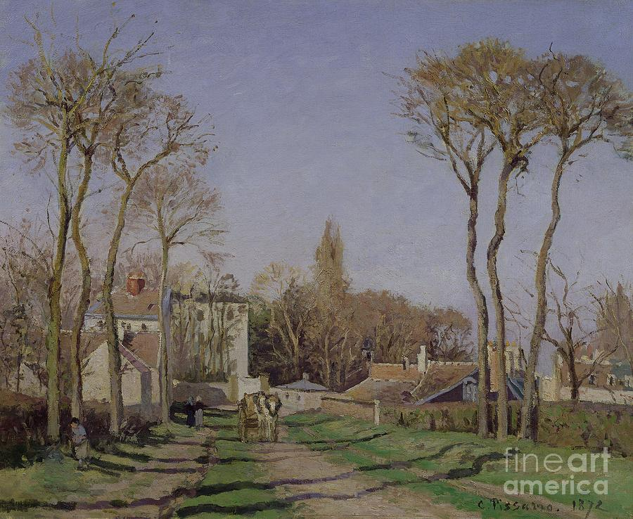 Entrance Painting - Entrance To The Village Of Voisins by Camille Pissarro