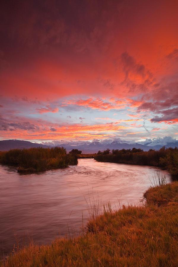 Eastern Sierra Photograph - Epic Owens River Sunset by Nolan Nitschke